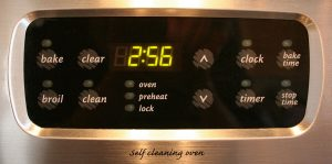 Digital-clock-zelfreinigende-oven