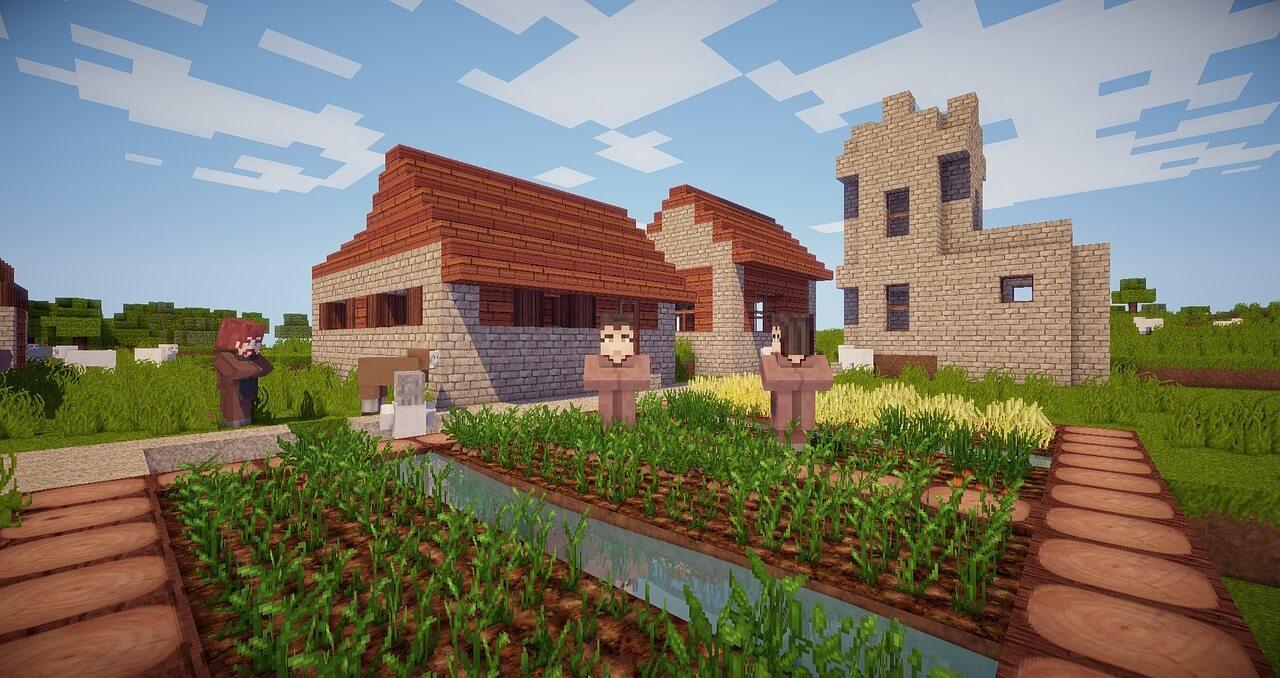 minecraft-village-garden