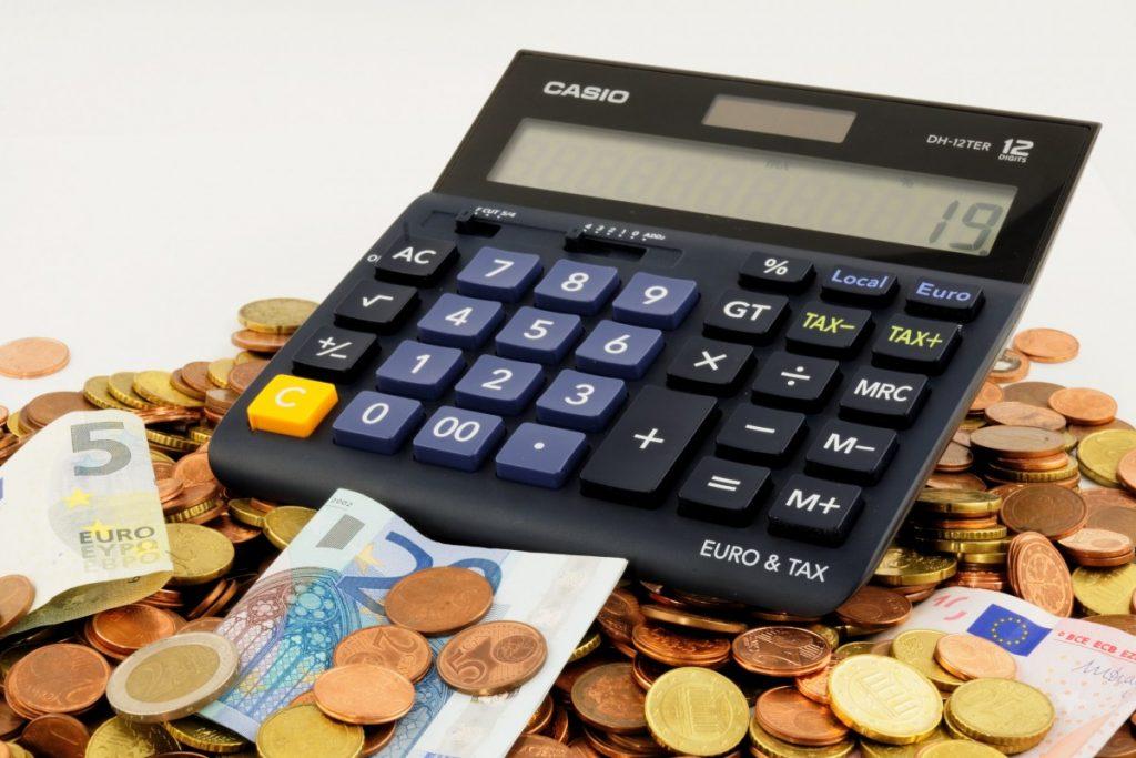 Rekenmachine met losgeld en briefgeld